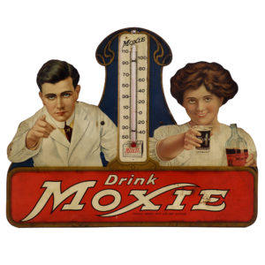 Lot 102). Moxie Die-Cut Thermometer
