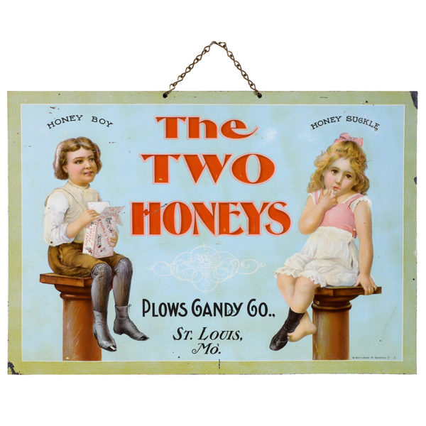 Lot 103). Two Honeys Candy Sign
