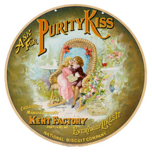 Lot 105). Nabisco Purity Kiss Biscuits Sign