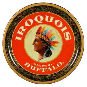 Lot 106). Iroquois Beer Tray