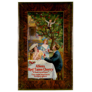 Lot 108). Allen's Red Tame Cherry Soda Sign