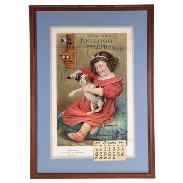 Lot 12). Kellogg Telephones Calendar