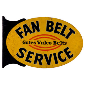 Lot 13). Gates Fan Belts Flange Sign