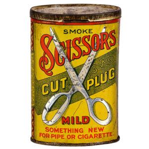 Lot 16). Scissors Pocket Tin