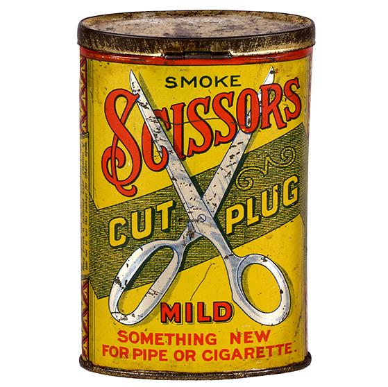 Lot 16). Scissors Pocket Tin