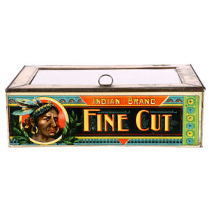 Lot 17). Indian Fine Cut Tobacco Tin