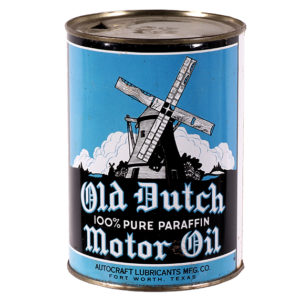 Lot 19). Old Dutch Motor Oil Can
