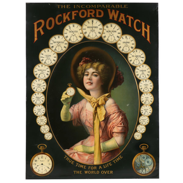 Lot 20). Rockford Watches Sign