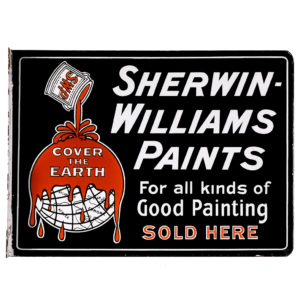 Lot 24). Sherwin-Williams Porcelain Paint Sign