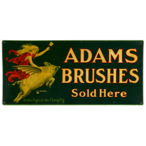Lot 26). Adams Paint Brushes Tin Sign