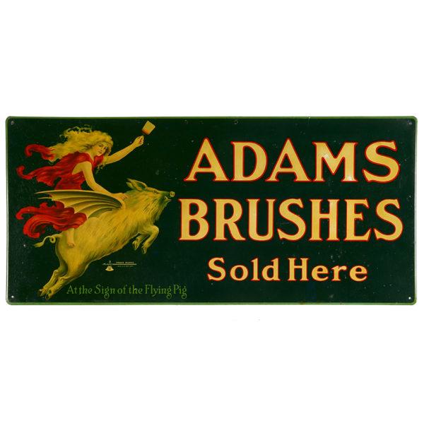Lot 26). Adams Paint Brushes Tin Sign
