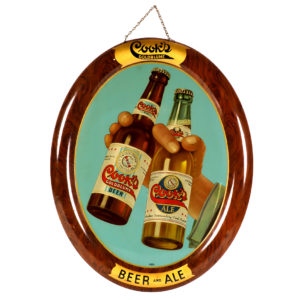 Lot 29). Cooks Brewing Co. Sign (Evansville
