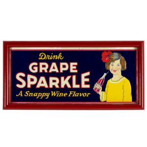Lot 30). Grape Sparkle Soda Sign