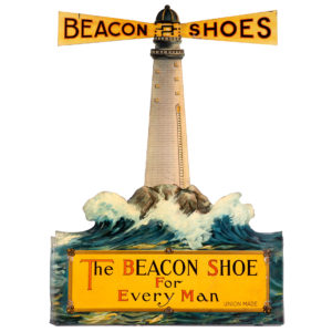 Lot 32). Beacon Shoes Die-Cut Sign