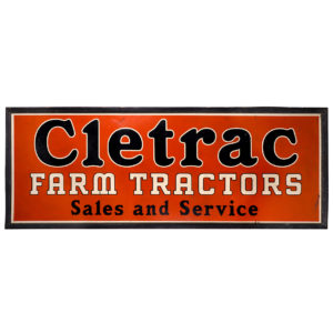 Lot 33). Cletrac Farm Tractors Sign