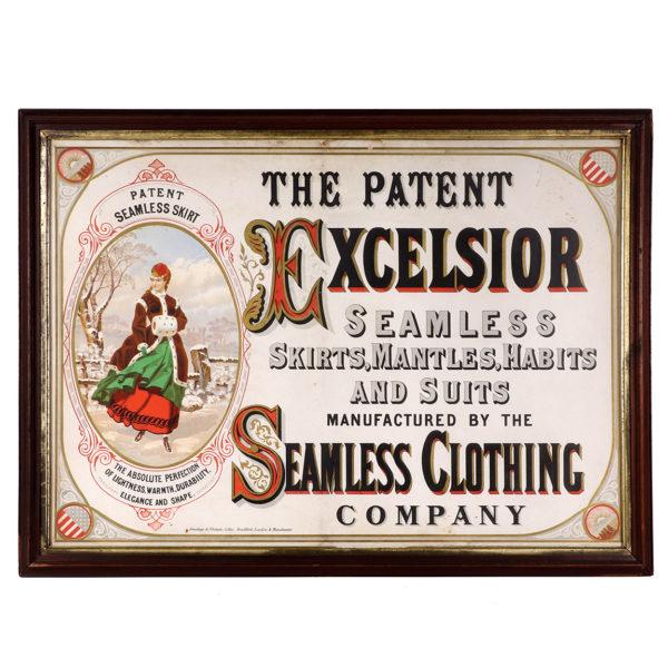 Lot 36). Excelsior Clothing Co. Sign