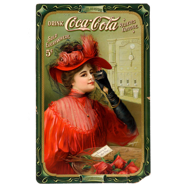 Lot 37). 1908 Coca-Cola Stand-up Sign