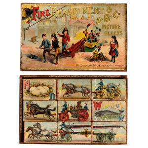 Lot 38). McLoughlin Bros. Fire Department Picture Blocks