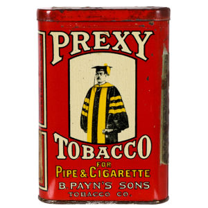 Lot 39). Prexy Pocket Tin (Yellow Stripe Variation)