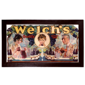 Lot 41). Welch's Grape Juice Window Sign