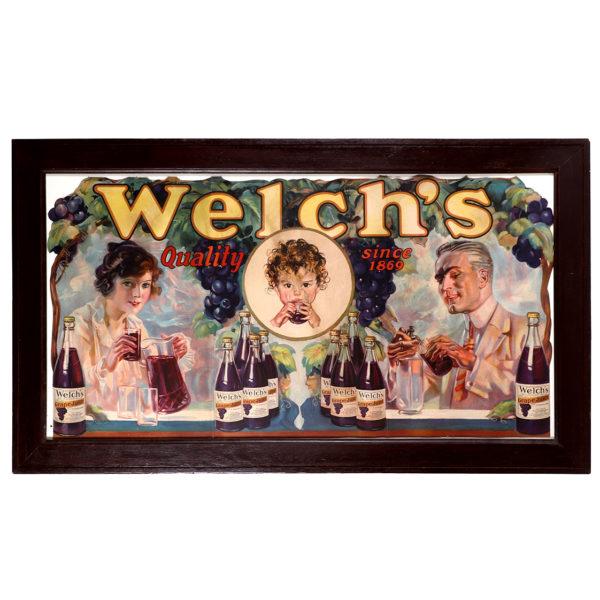 Lot 41). Welch's Grape Juice Window Sign