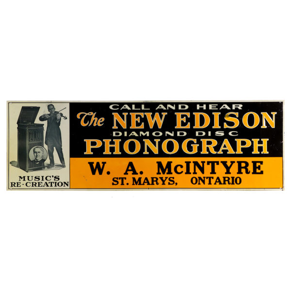 Lot 44). Edison Phonographs Sign
