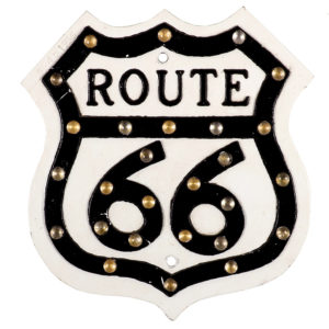 Lot 45). Route 66 Road Sign