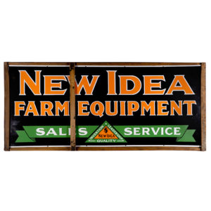 Lot 49). Porcelain Farm Equipment Sign