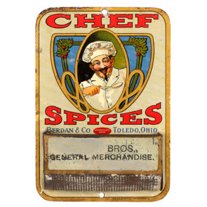 Lot 5). Chef Spices Match Holder