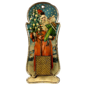 Lot 50). Santa Match Holder