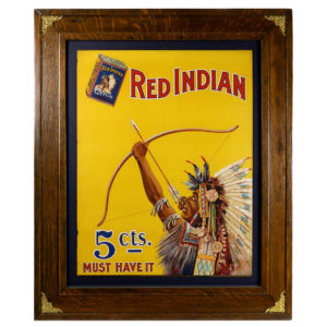 Lot 57). Red Indian Tobacco Sign
