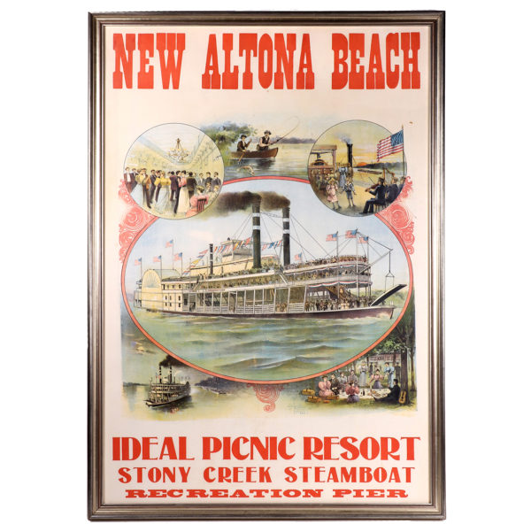 Lot 59). Stony Creek Steamboat Poster