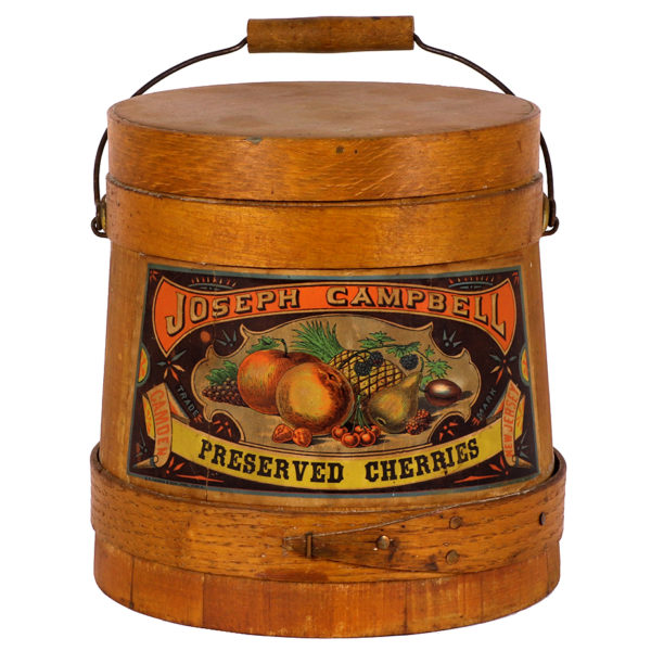 Lot 63). Campbell's Preserved Cherries Firkin