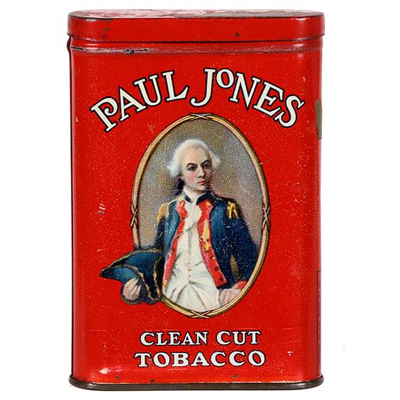 Lot 67). Paul Jones Pocket Tin (Red Variation)