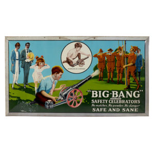 Lot 75). Big-Bang Toy Cannon Sign