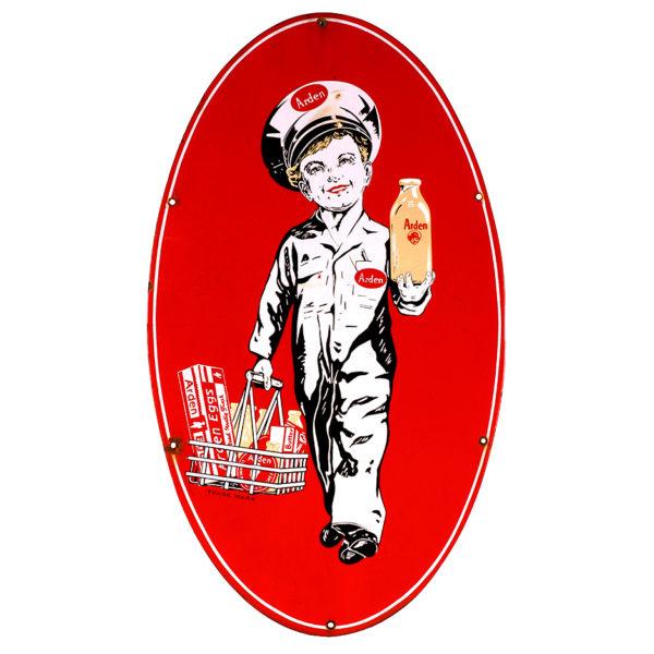 Lot 76). Arden Dairy Porcelain Sign