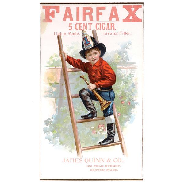 Lot 77). Fairfax Cigars Sign