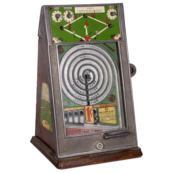 Lot 8). Baseball Coin-Op Trade Stimulator