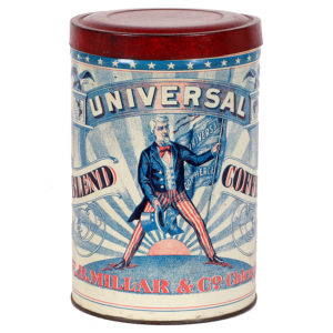 Lot 82). Universal Coffee Tin