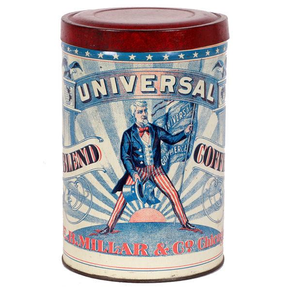 Lot 82). Universal Coffee Tin