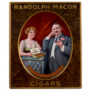 Lot 89). Randolph Macon Cigars Sign
