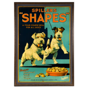 Lot 90). Spiller Dog Food Tin Sign