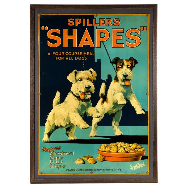Lot 90). Spiller Dog Food Tin Sign