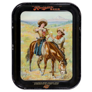 Lot 91). Rainier Beer Serving Tray