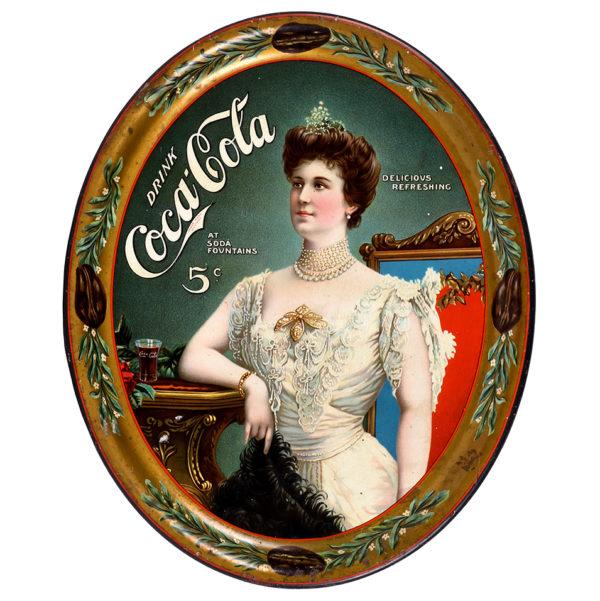 Lot 93). 1905 Coca-Cola Serving Tray