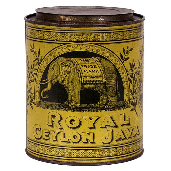 Lot 98). Royal Ceylon Coffee Can
